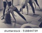 diversity people exercise class ... | Shutterstock . vector #518844739