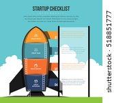 vector illustration of startup... | Shutterstock .eps vector #518851777