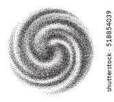 black and white dotted spiral... | Shutterstock .eps vector #518854039