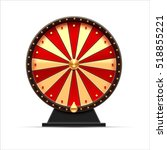 wheel of fortune 3d object... | Shutterstock .eps vector #518855221