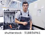 portrait of a worker with...   Shutterstock . vector #518856961