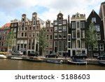 Along A Canal In Amsterdam. ...