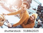 happy young couple going for a... | Shutterstock . vector #518862025