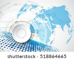 abstract future technology... | Shutterstock .eps vector #518864665