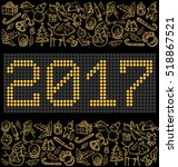 vector button numbers 2017  and ... | Shutterstock .eps vector #518867521