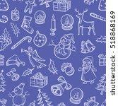 vector christmas seamless... | Shutterstock .eps vector #518868169