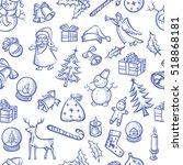 vector christmas seamless... | Shutterstock .eps vector #518868181