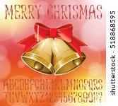 vector handmade christmas... | Shutterstock .eps vector #518868595