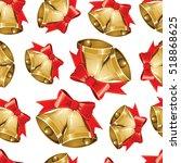 vector christmas seamless... | Shutterstock .eps vector #518868625