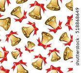 vector christmas seamless... | Shutterstock .eps vector #518868649