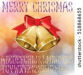 vector handmade christmas... | Shutterstock .eps vector #518868655