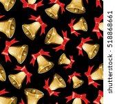 vector christmas seamless... | Shutterstock .eps vector #518868661
