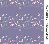 embroidery colorful floral... | Shutterstock .eps vector #518869249