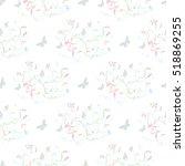 floral modern stylish decor... | Shutterstock .eps vector #518869255
