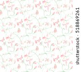 traditional soft floral decor... | Shutterstock .eps vector #518869261