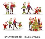 merry christmas and new year.... | Shutterstock .eps vector #518869681