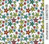 multicolored stars. seamless... | Shutterstock .eps vector #518870755