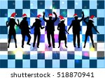dancing people  christmas... | Shutterstock .eps vector #518870941