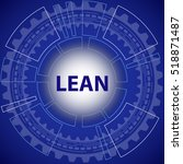 lean strategy background. blue... | Shutterstock .eps vector #518871487