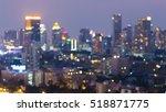 Night Light Blurred Bokeh City...