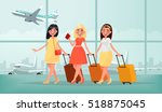 air travel to warm countries.... | Shutterstock .eps vector #518875045