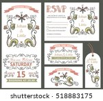 floral wedding design template... | Shutterstock . vector #518883175