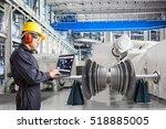 engineer using laptop computer... | Shutterstock . vector #518885005