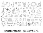 new year and christmas set | Shutterstock .eps vector #518895871