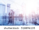 commuters in big city  business ... | Shutterstock . vector #518896135