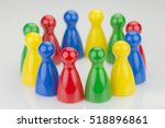 conceptual game pawns that... | Shutterstock . vector #518896861
