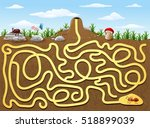 help red ant to find way out... | Shutterstock . vector #518899039