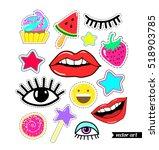 lips  eyes  smile  star  candy  ... | Shutterstock .eps vector #518903785