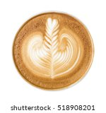 Latte Art Pattern Foam Top Vie...
