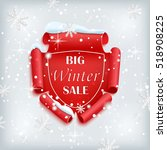 big winter sale poster. red ... | Shutterstock .eps vector #518908225