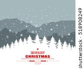 holiday christmas background... | Shutterstock .eps vector #518908249