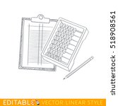 abacus  office clipboard with... | Shutterstock .eps vector #518908561