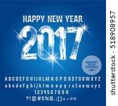 vector frosty brush happy new...   Shutterstock .eps vector #518908957