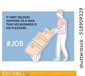 hashtag job. porter about a... | Shutterstock .eps vector #518909329
