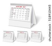 realistic desktop calendar with ... | Shutterstock .eps vector #518910445