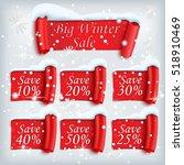 big winter sale stickers set....   Shutterstock .eps vector #518910469