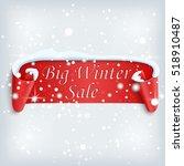 big winter sale poster. red ... | Shutterstock .eps vector #518910487