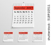 Realistic Wall Calendar With...