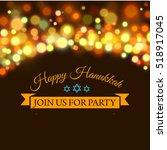 happy hanukkah greeting card... | Shutterstock .eps vector #518917045