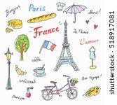Set Of Paris French Symbols...