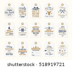christmas label set elements... | Shutterstock .eps vector #518919721