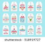 christmas label set elements... | Shutterstock .eps vector #518919727