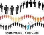 groups of symbol people in wavy ... | Shutterstock . vector #51892288