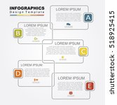 infographic design template... | Shutterstock .eps vector #518925415