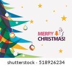 merry christmas card vector... | Shutterstock .eps vector #518926234
