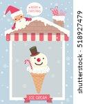 poster of ice cream cone...   Shutterstock .eps vector #518927479